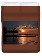 May Sunset At Detroit Point Duvet Cover