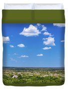 Mayan Temple And Landscape Duvet Cover