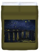 Maybe We Can Take Death To Go To A Star? Duvet Cover