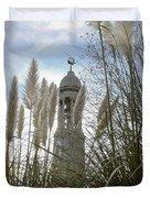 Mayflower Memorial Through The Pampas Grass Duvet Cover