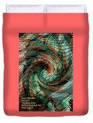 Mayhem Swirl Behind The Safety Net Catus 1 No. 1 V A Duvet Cover
