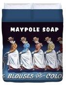 Maypole Soap Retro Vintage Ad 1890's Duvet Cover