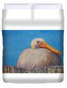 Mayport Florida Pelican Duvet Cover
