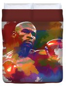 Mayweather Watercolor Duvet Cover