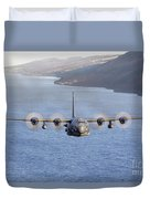 Mc-130h Combat Talon II Over Loch Ness Duvet Cover
