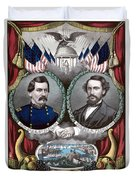 Mcclellan And Pendleton Campaign Poster Duvet Cover