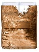 Mcconnells Mill Covered Bridge Sepia Duvet Cover