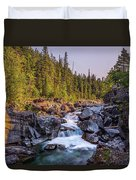 Mcdonald Creek Falls Duvet Cover