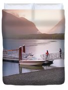 Mcdonald Lake At Dusk Duvet Cover