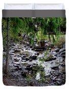 Mcdonald Lake Stream Duvet Cover