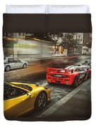 Mclaren F1 Gtr With Speciale And Integrale And 918 Duvet Cover
