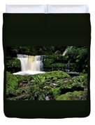 Mclean Falls In Southland New Zealand Duvet Cover