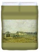 Mcpherson Barn And Cannon Gettysburg  Duvet Cover