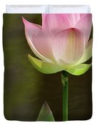 Pink Lotus And A Bud Duvet Cover