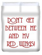 Me And My Red Wings 1 Duvet Cover