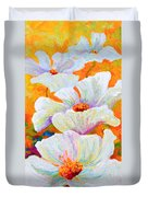 Meadow Angels - White Poppies Duvet Cover