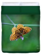 Meadow Fritillary Butterfly 2015 Duvet Cover