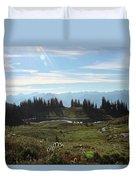 Meadow Mountain View Duvet Cover