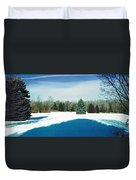 Meadow Snow Duvet Cover