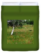 Meadow With Birch Trees Duvet Cover