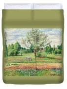 Meadow With Grey Horse, Eragny Duvet Cover
