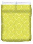 Meadowlark Quatrefoil Duvet Cover