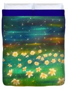 Meadows And Fireflies Duvet Cover
