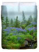 Meadows In The Mist Duvet Cover