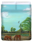 Meandering Mares Duvet Cover