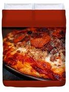 Meat Monster Pizza Duvet Cover