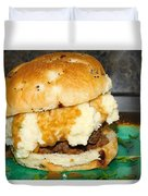 Meatloaf And Mashed Potato Sandwich Duvet Cover