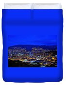 Medellin Colombia At Night Duvet Cover