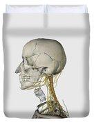 Medical Illustration Showing Thyroid Duvet Cover