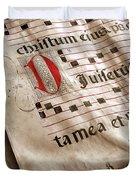 Medieval Choir Book Duvet Cover