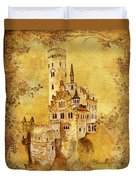 Medieval Golden Castle Duvet Cover