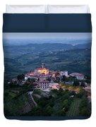 Medieval Hilltop Village Of Smartno Brda Slovenia At Dawn In The Duvet Cover