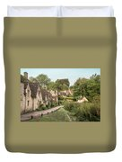 Medieval Houses In Arlington Row In Cotswolds Countryside Landsc Duvet Cover