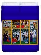 Medieval Scene Duvet Cover