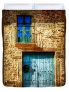 Medieval Spanish Gate And Balcony - Vintage Version Duvet Cover