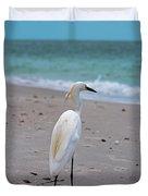 Meditating On The Sea Duvet Cover