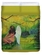 Meditation In Eden Duvet Cover
