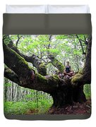 Meditation On Centenary Tree  Duvet Cover