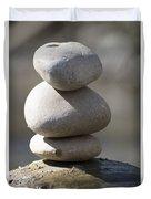 Meditation Stones Duvet Cover