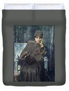 Meditation,  William Merritt Chase American, 1849-1916 1886 Duvet Cover