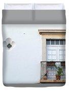 Mediterranean Balcony Duvet Cover