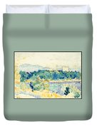 Mediterranean Landscape With A White House Duvet Cover