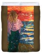 Mediterranean Sunset Duvet Cover