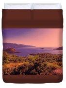 Mediterranean Sunset Glow Duvet Cover