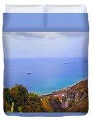 Mediterranean View Duvet Cover