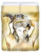 Meditrina Goddess Of Wine Duvet Cover